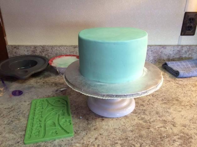 easter cake prep