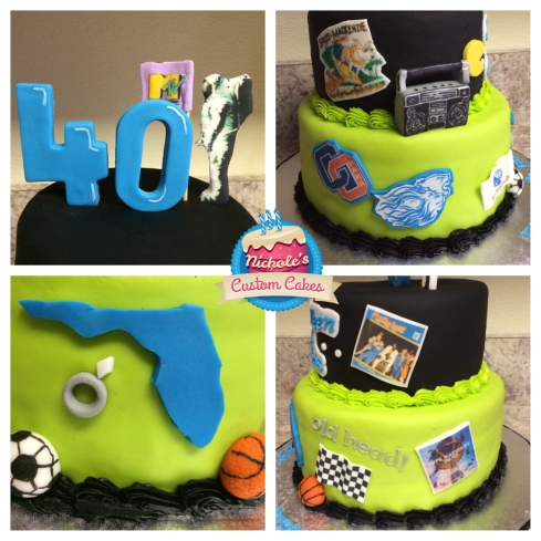 80s cake collage