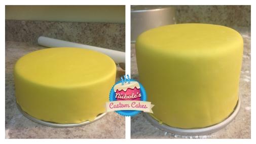 Fondant testing on cake pans