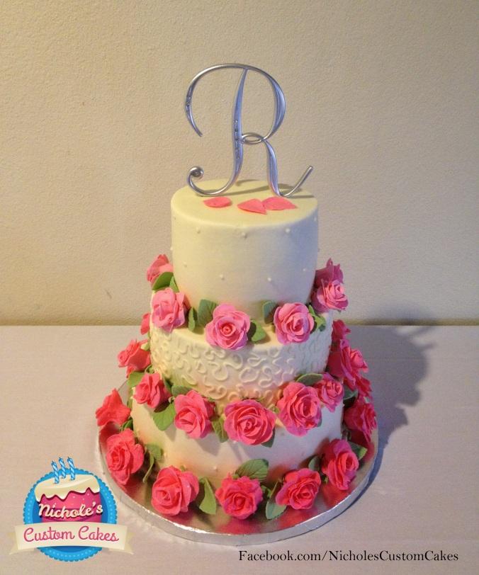 Wedding cake 4.12.13 set up