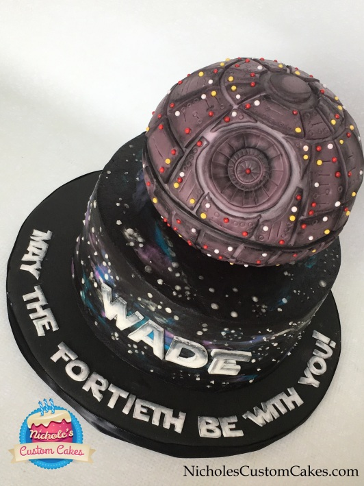 death star cake front