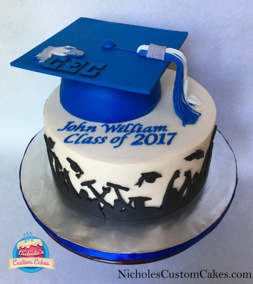 grad cake front