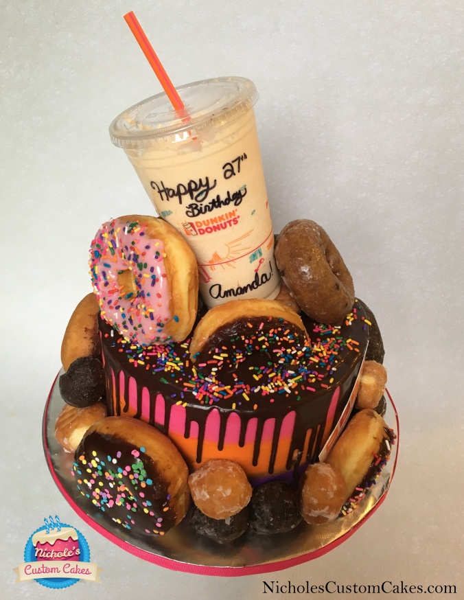 dunkin donuts cake 2