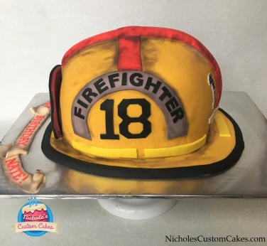 fire helmet side